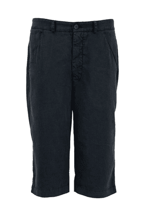 Hannes Roether Rolled Up Linen Shorts Black Colour: Black,