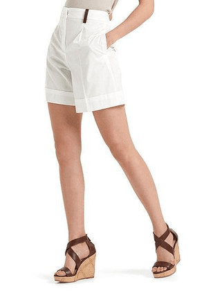 Marc Cain Collections Cotton Shorts Off-White NC 83.02 W60