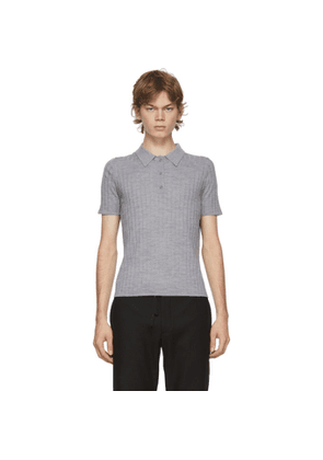 Dion Lee Grey Wool Polo