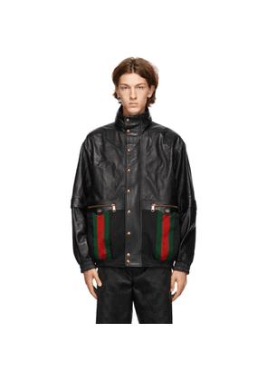 Gucci Black Mix Leather Jacket