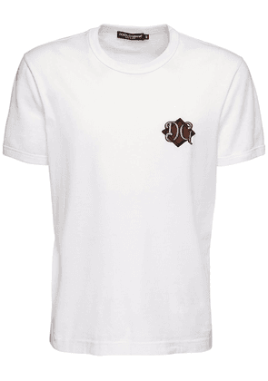 Dg Patch Embroidery Cotton T-shirt