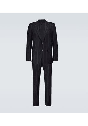 Pinstriped single-breasted suit