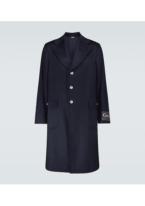 Cashmere-blend coat with logo