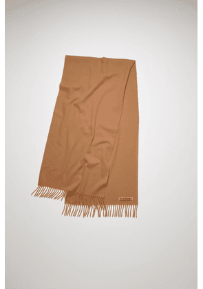 Acne Studios Canada Nr New Caramel brown  Narrow wool scarf