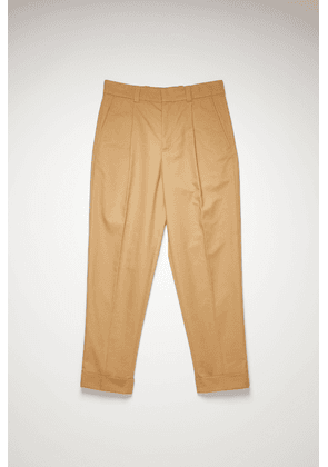 Acne Studios FN-MN-TROU000361 Hazel beige  Pleated twill chinos