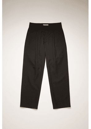 Acne Studios FN-MN-TROU000386 Black  Pleated wool suit trousers