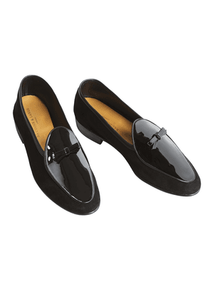 Black Evening Wear Patent Loafers