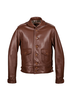 Russet Aeromarine Leather Jacket