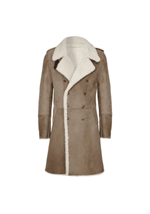 Stone Eastwood Double-Breasted Shearling Coat