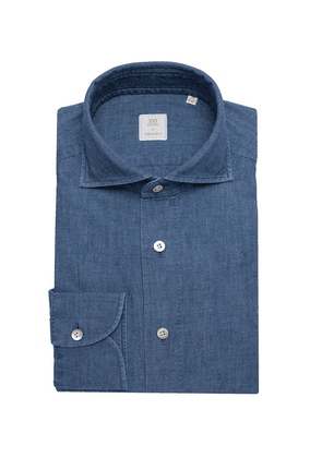 Grey-Blue Japanese Selvedge Chambray Shirt