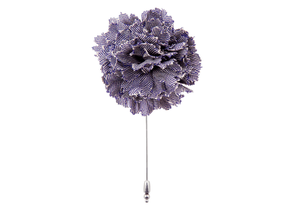 Lavender Herringbone Flower Lapel Pin