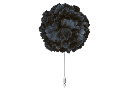 Black Velvet Carnation Lapel Pin