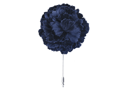 Blue Velvet Carnation Lapel Pin