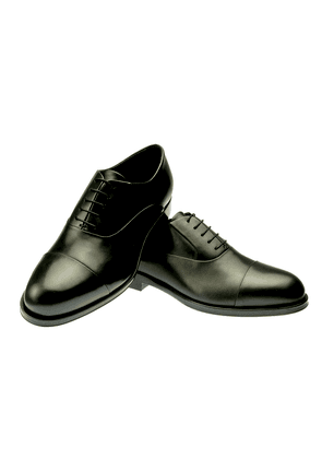 Black Ginetto Leather Oxfords
