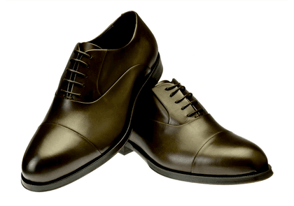 Brown Ginetto Leather Oxfords