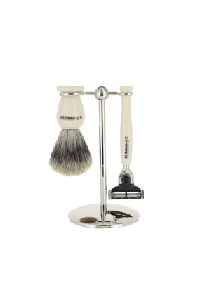 Ivory and Chrome Starter Shaving Set