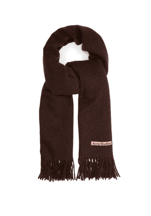 Acne Studios - Canada New Fringed Wool-blend Scarf - Mens - Brown