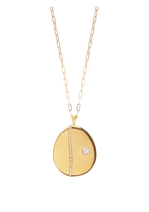 Cvc Stones - P6 Diamond & 18kt Gold Pendant Necklace - Womens - Gold