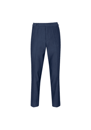Navy Featherlight Cotton 'Weekend' Denim Trousers