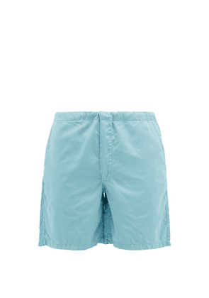Cleverly Laundry - House Cotton-sateen Shorts - Mens - Light Blue