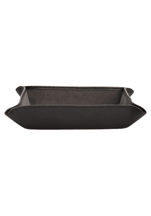 Grey Leather Blake Coin Tray