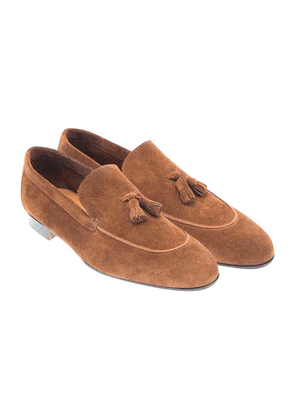 Brown Suede Aria Roma Tassel Loafers