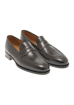 Black Leather 1883 Heritage 101 Penny Loafers