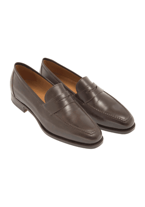 Brown Leather 1883 Heritage 150 Penny Loafers