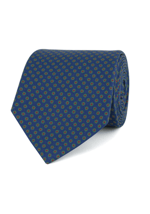 Blue Silk Small Floral Tie