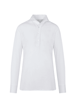White Cotton-Jersey Polo Shirt