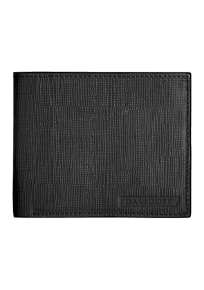 Black Embossed Leather Crossroads Eight-Card Wallet