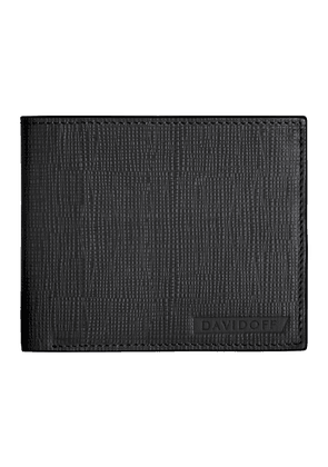 Black Embossed Leather Crossroads Six-Card Wallet