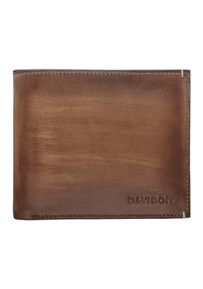 Cognac Hand-Painted Leather Venice Bifold Six-Card Wallet