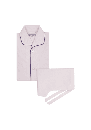 Pink Cotton Pyjama Set with Contrast Piping