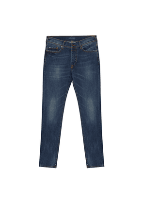 Blue Faded Wash Classic Jeans