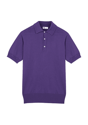 Purple Knitted Cotton Polo
