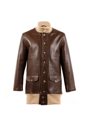 Brown A1 Long Leather Jacket