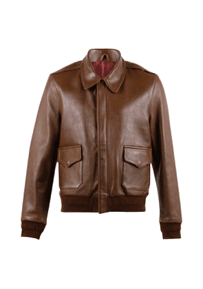 Classic Brown Sheep Leather A2 Jacket