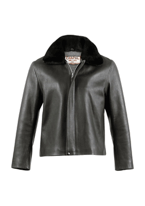 Charcoal Grey Sheep Leather Bomber