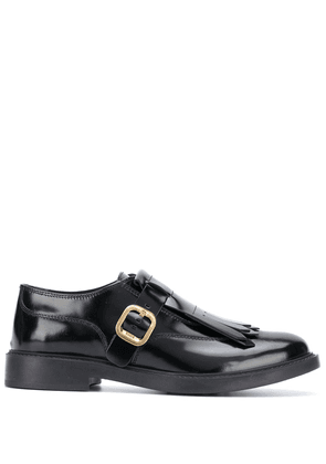 Tod's tassel-front buckled shoes - Black