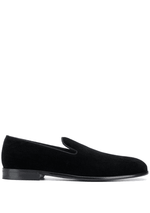 Dolce & Gabbana velvet loafers with leather sole - Black