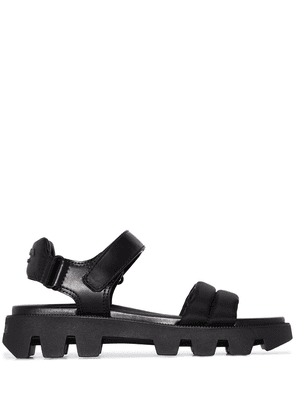 Prada touch-strap ridged-sole sandals - Black