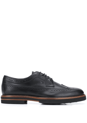 Tod's contrast-sole brogues - Black