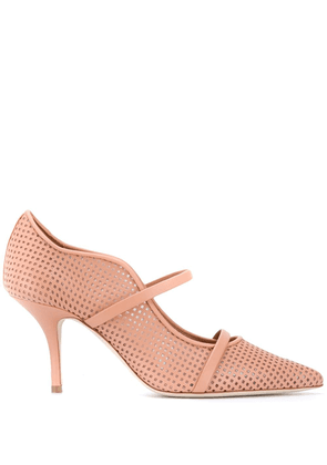 Malone Souliers Maureen 70mm perforated pumps - PINK