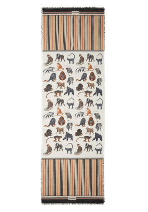 Burberry monkey print scarf - Neutrals