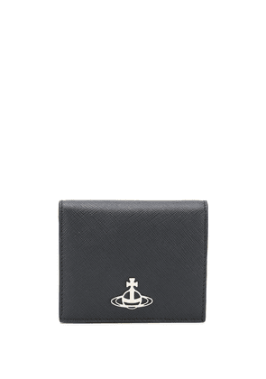 Vivienne Westwood small logo plaque wallet - Black