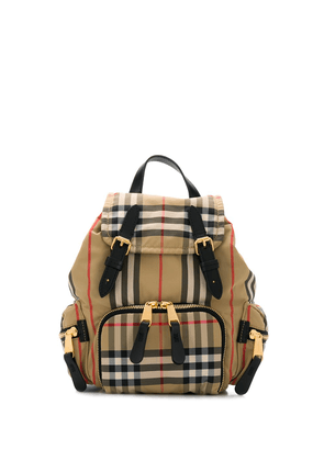 Burberry small check-print backpack - Neutrals