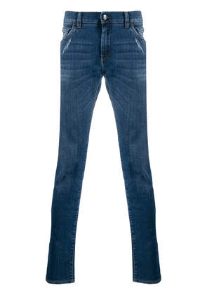 Dolce & Gabbana low-rise slim-fit jeans - Blue