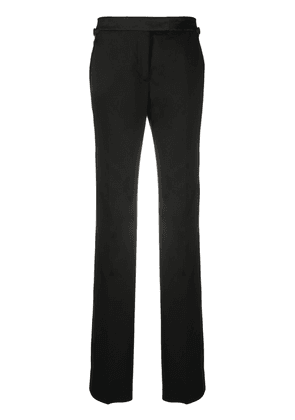Tom Ford virgin wool tailored trousers with silk detailing - Black
