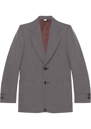 Gucci G hexagon single-breasted blazer - Grey